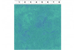 """Tissu patch Good Vibes """"Turquoise"""""""
