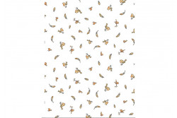 """Tissu Clothworks""""Birds & Feathers"""" White"""
