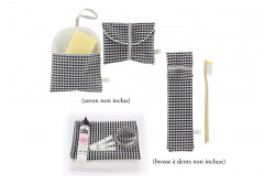 Kit nomade en tissu vichy 003 Com'1 Idée