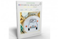 "Kit de broderie décorative French Kits "" 2 CV du bonheur"""