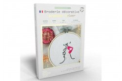 "Kit de broderie décorative French Kits "" premier baiser"""