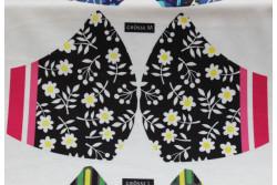 Kit pour fabriquer un masque, modèle Fleurs blanches taille M