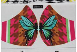 Kit pour fabriquer un masque, modèle Papillon taille S