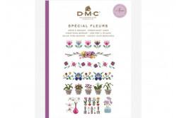 Mini livre point de croix motifs fleurs de DMC