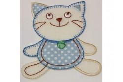 Motif thermocollant chat bleu