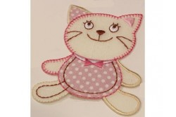 Motif thermocollant chat rose
