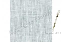 Toile de lin KINGSTON de Zweigart, coloris 101 ivoire