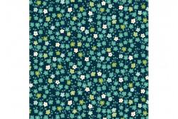 """Tissu Makower """"Michiko"""" Blossom Blue"""