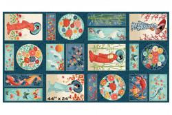 """Tissu Makower """"Michiko"""" Panel"""