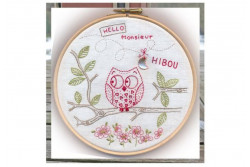 """Kit de broderie traditionnelle """"MONSIEUR HIBOU"""""""