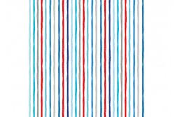 "Tissu patch ""Beside the Sea"" Chalky Stripes sur fond blanc"