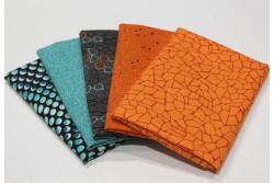 """lot de 5 tissus patch Stof """"petits motifs"""" n°2"""