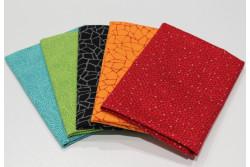 """lot de 5 tissus patch Stof """"petits motifs"""" n°3"""