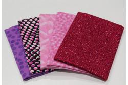 """lot de 5 tissus patch Stof """"petits motifs"""" n°4"""