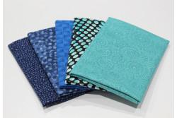"""lot de 5 tissus patch Stof """"petits motifs"""" n°5"""