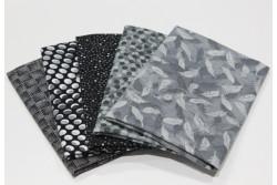 """lot de 5 tissus patch Stof """"petits motifs"""" n°6"""
