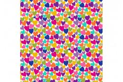 """Tissu patch de Makower """"Cats"""" Hearts Cream"""
