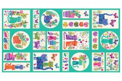 """Tissu patch de Makower """"Cats"""" Panel"""