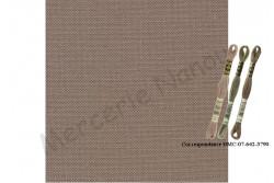 Toile de lin NEWCASTLE de Zweigart, coloris 7025 taupe foncé