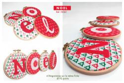 """Diagramme au point de croix Lilipoints """" Noël """""""