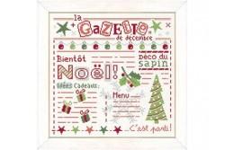 """Diagramme au point de croix """" La Gazette de décembre """""""