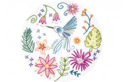 Kit broderie Easy Custo - Zacharie petit colibri