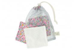 """Kit couture 6 lingettes lavables et leur filet """"Betsy Ann"""""""
