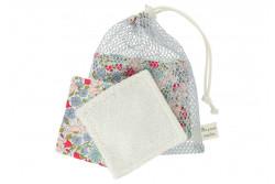"""Kit couture 6 lingettes lavables et leur filet """"Poppy Daisy"""""""
