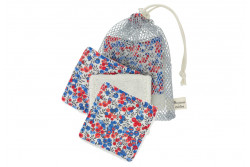 """Kit couture 6 lingettes lavables et leur filet """"Fabric Wiltshire"""""""