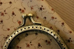 Fermoir de sac en métal bronze