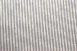 "Tissu Patchwork Stof "" rayé gris et bleu """