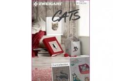 Livret Zweigart N° 266 divers modèles de broderie sur le thème du chat
