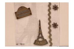 Boutons en bois sur le theme de Paris