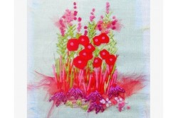 "Kit de broderie ""The red garden"""