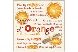 """Diagramme au point de croix """"Confiture d'oranges"""""""