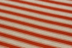 """Tissu Couture """"Stripes"""" rayures rouges et beige lin"""
