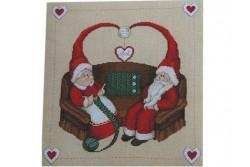 Fiche de broderie au point de croix de Serenita di Campagna Un Natale a...