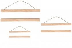 Barres en bois pour suspension style Kakemono japonais