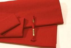 Toile de lin BELFAST de Zweigart, coloris 9003 rouge Noël