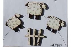"""Bouton en bois """"saute moutons"""""""