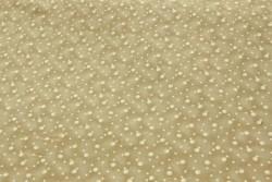 tissu patch Quilters basic bulles écru sur fond kaki clair