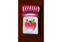 """Bouton Butterfly Couture """" pot de confiture de fraises """""""