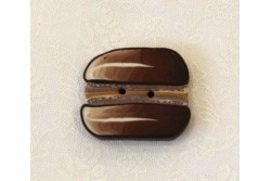 "Bouton Butterfly Couture "" macaron chocolat """