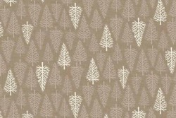 "Tissu Patch ""SCANDI"" Trees Taupe"