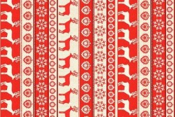 "Tissu Patch ""SCANDI"" Stripe Red"