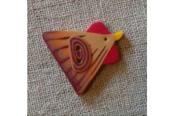 """Bouton Butterfly Couture """" Poule rousse """""""