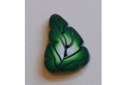 "Bouton Butterfly Couture "" Grande feuille verte """