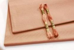 toile FEIN AIDA 7 pts au cm, coloris 4053 bois de rose