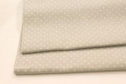 Toile de lin BELFAST de Zweigart, coloris 7349 gris pois blancs