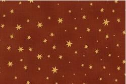 """Tissu Patch """"Brilliant Christmas"""" étoiles fond cuivre"""